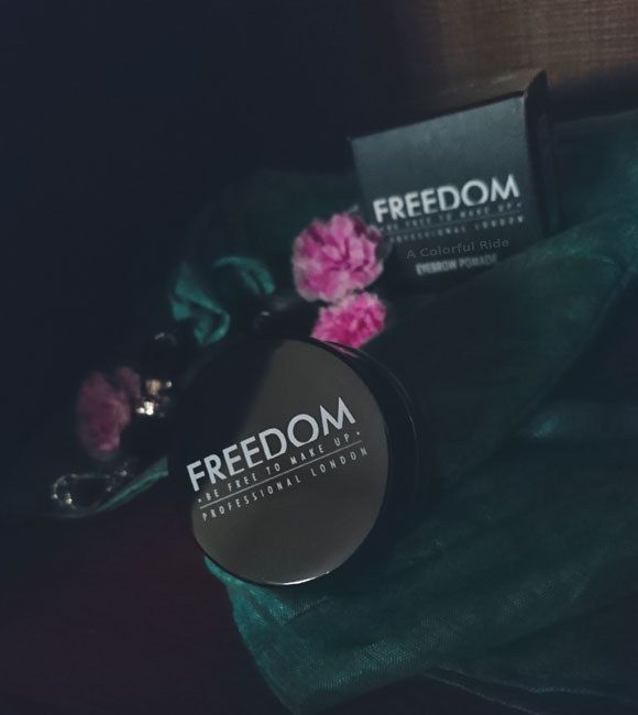 freedom brow pomade swatches