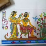 A MEMORABILIA – EGYPTIAN PAINTING IN ACRYLIC COLORS