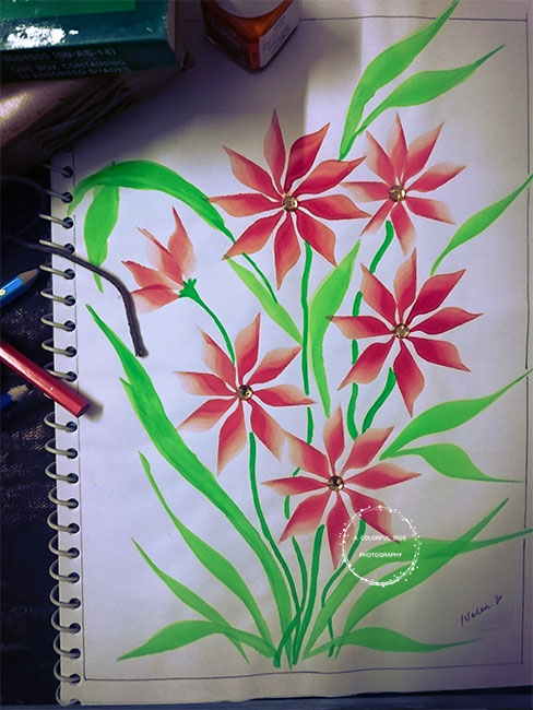 one stroke painting designs