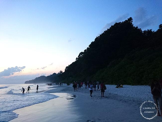 radhanagar beach sunset