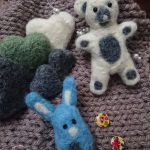 NEEDLE FELTED HEARTS & ANIMALS FOR NEWBORN PROPS