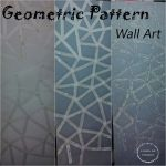 DIY – GEOMETRIC WALL ART USING MASKING TAPE – GET ARTISTIC !!