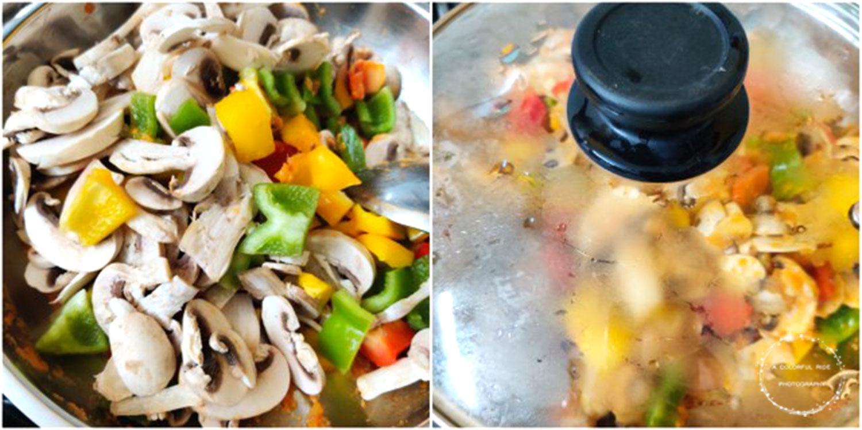 Kadai mushroom gravy for chapathi