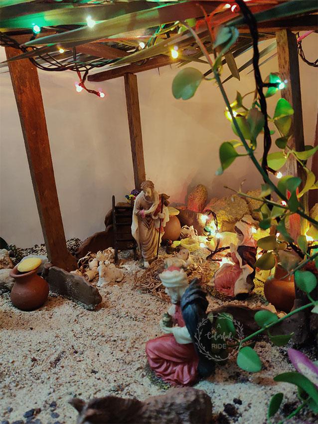 how to make Christmas crib using thermocol