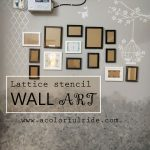 DIY – LATTICE STENCIL WALL ART