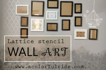 lattice stencils wall art