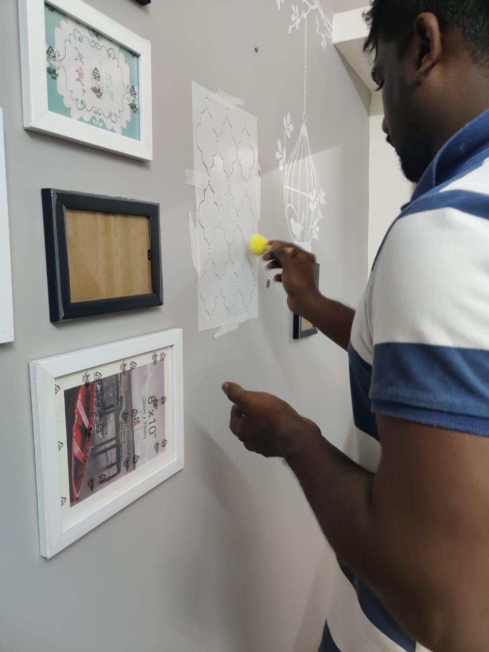lattice stencils wall art