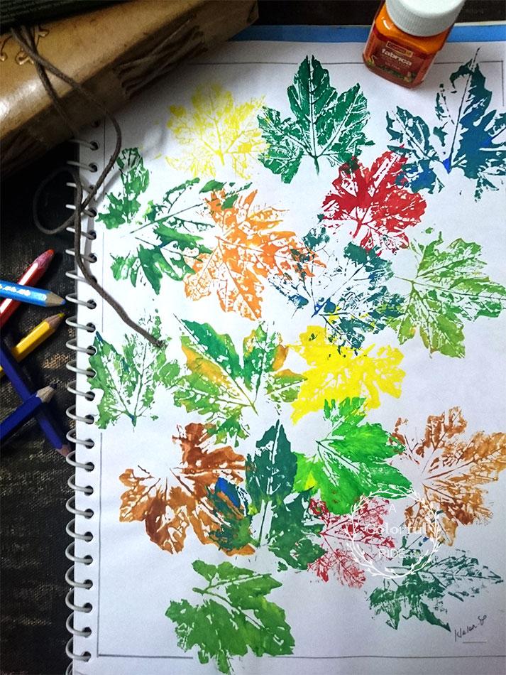 how to create a leaf stamp art