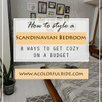 HOW TO STYLE A SCANDINAVIAN BEDROOM DESIGN ON A BUDGET!!