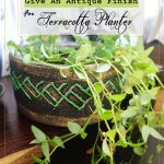 DIY – GIVE AN ANTIQUE FINISH FOR THE TERRACOTTA PLANTERS!!
