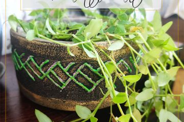 diy terracotta pot painting