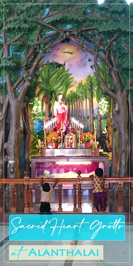 Sacred heart grotto shrine alanthalai